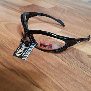 Motorcycle clear Safety Glasses padded top Moped